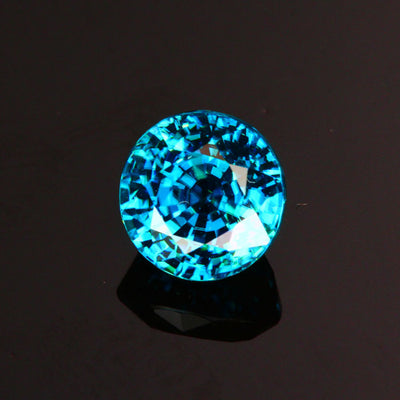 Blue Round Mixed Cut Zircon Gemstone 2.53 Carats