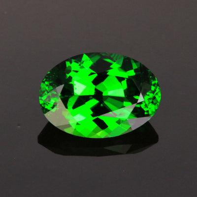 Green Oval Chrome Tourmaline Gemstone 2.02 Carats