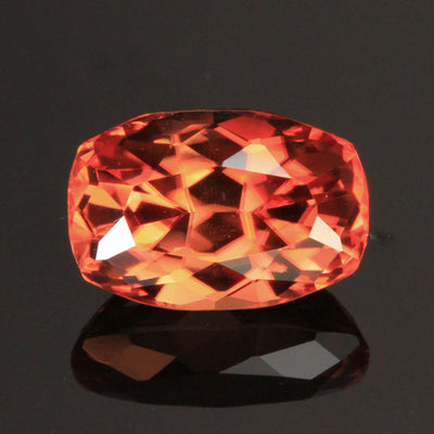 Pink/Orange Antique Cushion Imperial Zircon Gemstone 6.74 Carats