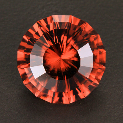 Peach Round Brilliant Cut Imperial Zircon 10.79 Carats