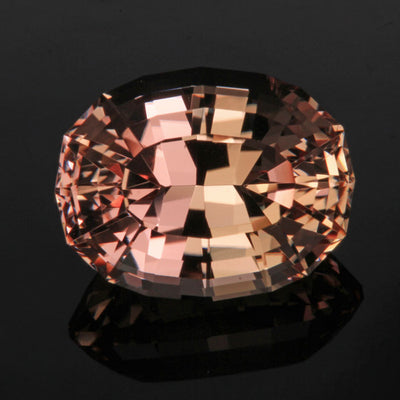 Peach Stepped Oval Morganite Gemstone 16.26 Carats
