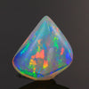 Intense Colors Freeform Shield Cut Cabochon Welo Opal Gemstone 15.80 Carats