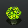 Hold for Mark.  Price is for peridot at $840 and 3.04 imperial zircon 4lcs 2044 at $380.  Green Hexagon Cut Peridot 5.62 Carats