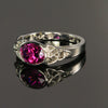 14K White Gold Grape Garnet Ring 2.39 Carats Designed by Christopher Michael