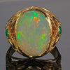 18K Yellow Gold Mens's Opal Ring 12.00 Carats Designed by Christopher Michael