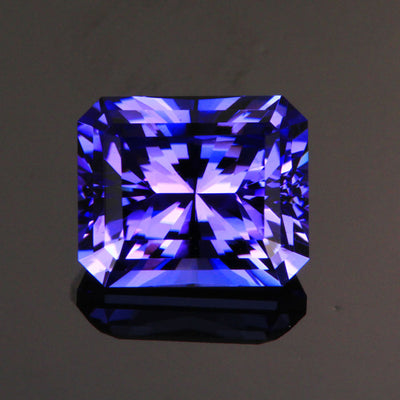 Blue Violet Barion Style Emerald Cut Tanzanite Gemstone 3.11 Carats