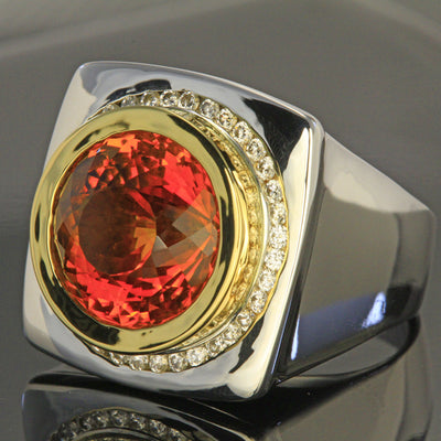 Bold Citrine and Diamond Ring by Christopher Michael