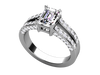 Christopher Michael Split Shank Engagement Ring