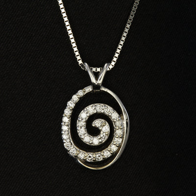 14K White Gold Diamond Pendant Designed By Christopher Michael .40 Carat