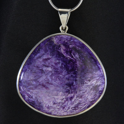 Russian Charoite in Sterling Silver