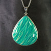 Large Sterling Silver Amazonite from Peru Pendant