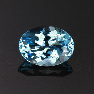 Oval Aquamarine Gemstone 3.23 Carats
