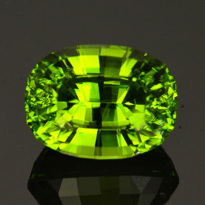 Blue/Green Oval Step Cut Pakistanian Peridot GEmstone 9.54 Carats