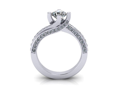 Engagement Ring for Round or Princess Cut by Christopher Michael