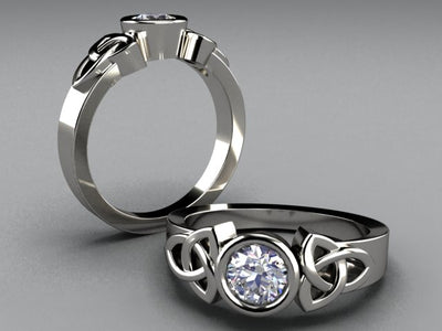 Celtic Infinite Love Engagement Ring