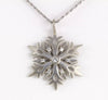 Diamond Snowflake Pendant With Satin Finish Designed by Christopher Michael