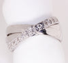 14kt White Gold 3 Interlocking Band Estate Ring