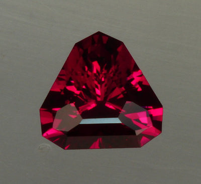 Trilliant Rhodolite Weighs 3.30 Carats