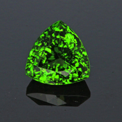 Green Trillon Cut Chrome Tourmaline Gemstone 3.36 Carats