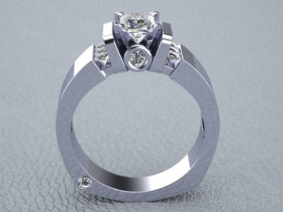 Princess Cut Engagement Ring by Christopher Michael