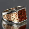 14k White and Rose Gold Dinosaur Bone Ring