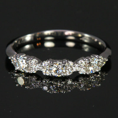 14K White Gold Diamond Ring By Christopher Michael