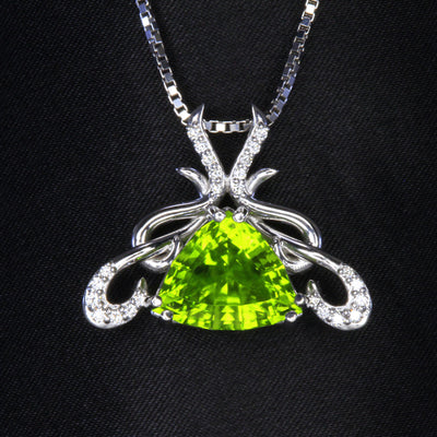 Large Peridot from Pakistan in a 14 Karat Gold Pendant