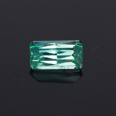 Bluish Green Modified Emerald Cut Emerald Gemstone 2.05 Carats