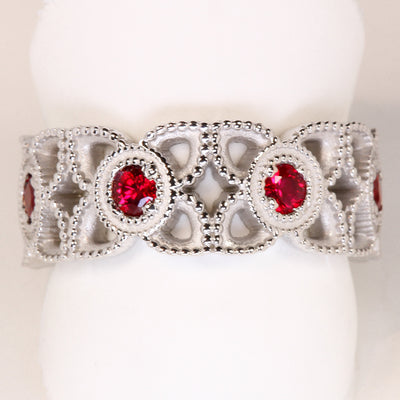 Ruby Ring Designed By Christopher Michael .76 Carat