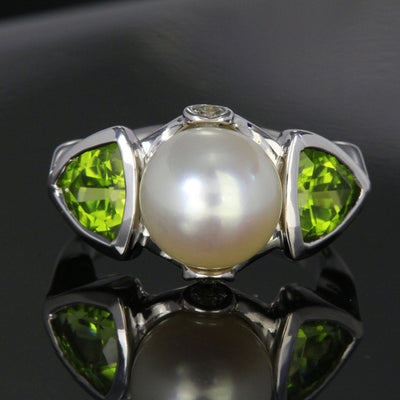 Pearl and Peridot Ring