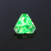 Green Triangle Cut Hyalite Opal Gemstone 1.20 Carats