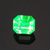 Green Emerald Cut Hyalite Opal Gemstone .77 Carats