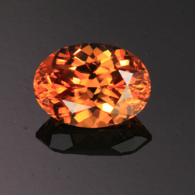 Peach Oval Cut Imperial Zircon Gemstone 5.96 Carats