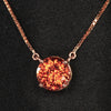 rose gold imperial zircon pendant with chain