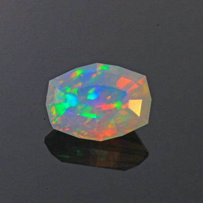 Faceted Cushion Ethipian Opal Gemstone 6.32 Carats