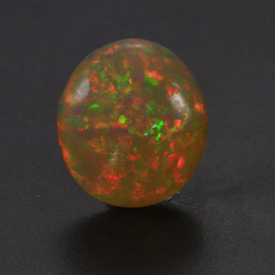 Dark Body Color Round Cabochon Welo Opal Gemstone 8.59 Carats