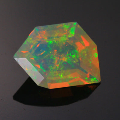faceted freeform opal Welo Ethiopia
