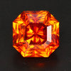 Yellow Orange Square Brilliant Sphalerite Gemstone 9.66 Carats