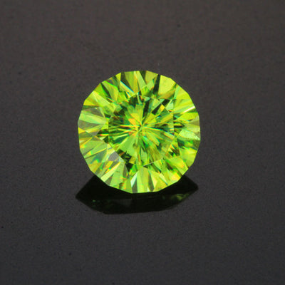 Green Round Brilliant Sphene Gemstone 4.36 Carats