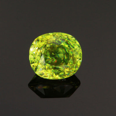 Green Oval Sphene Gemstone 2.95 Carats