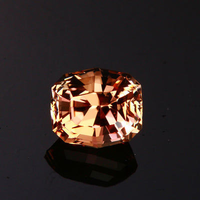 Browin/Pink Step Antique Cushion Cut Sunstone Gemstone 2.86 Carats