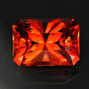 Red/Orange Barion Style Emerald Cut Sunstone Gemstone 10.75 Carats