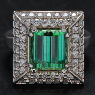 Mint Green Tourmaline Ring