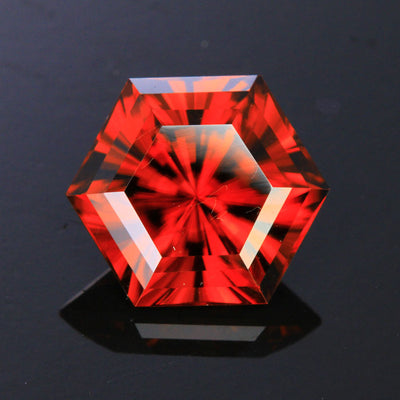 Red Hexagonal Barion Zircon Gemstone 11.30 Carats