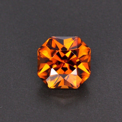 Orange Square Mixed Cut Zircon Gemstone 6.01 Carats