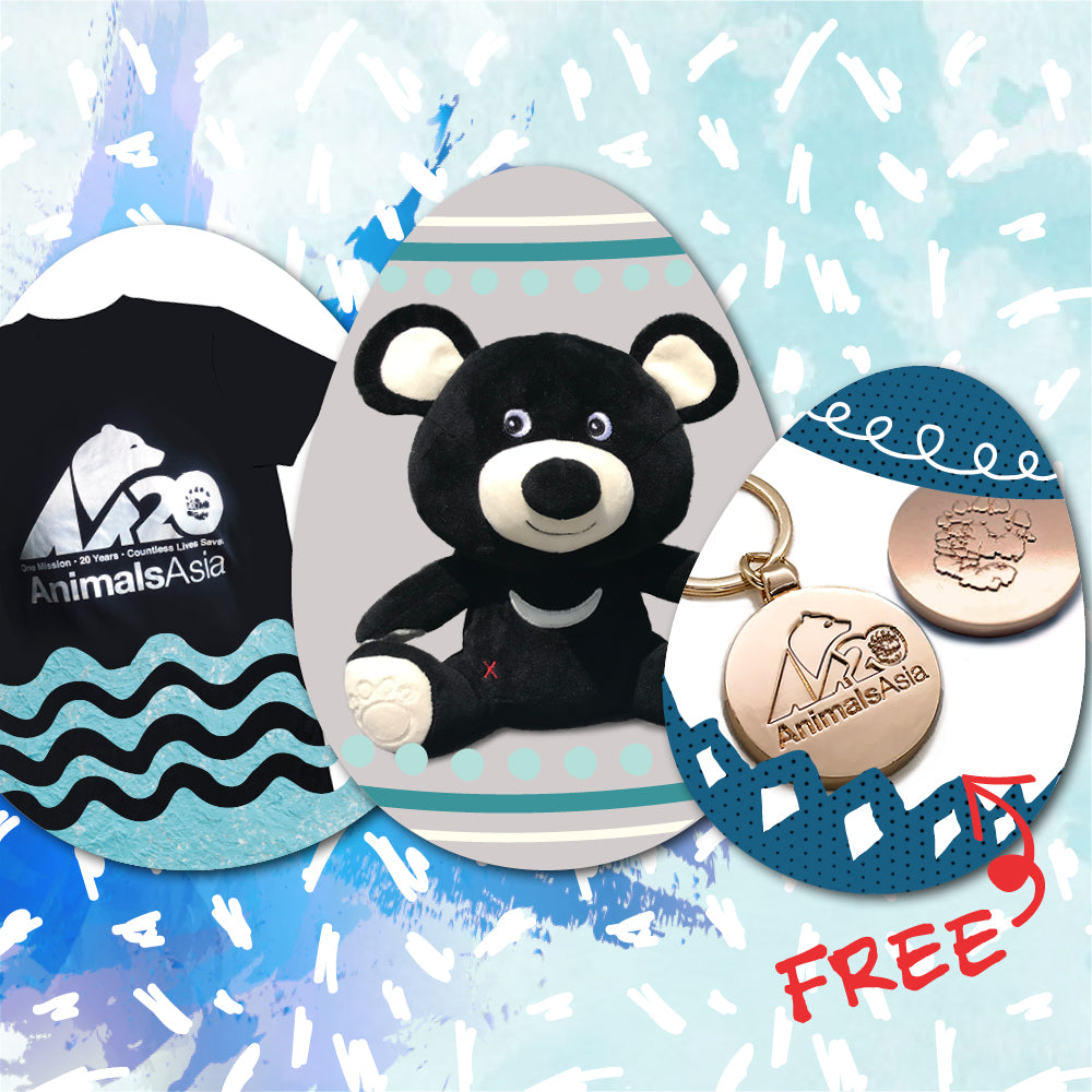 Easter bear gifts for him (set A)