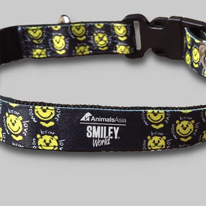 Smiley dog leash and collar