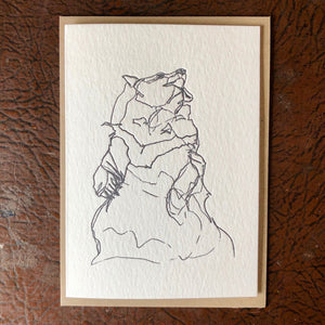 Moon bear letterpress cards
