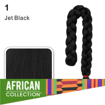 Wholesale Xpressions Braiding Hair - African Collection - Color 1 - Jet Black