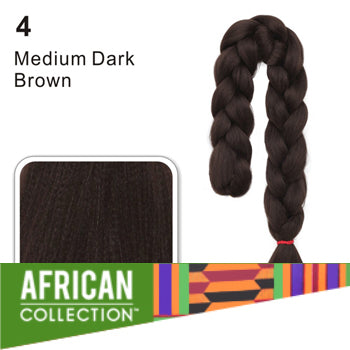 Wholesale Xpressions Braiding Hair - African Collection - Color 4 - Medium Dark Brown